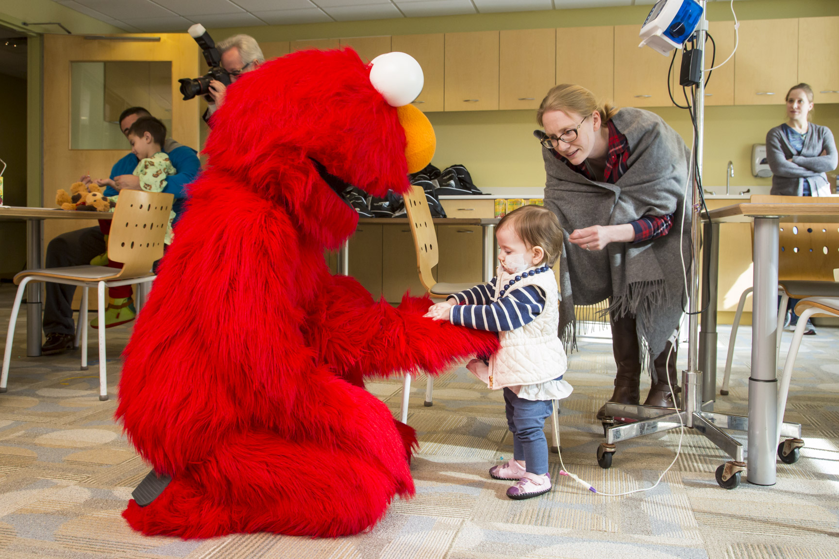 Sesame Street Visit Hackensack University Medical Center
